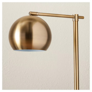 Project 62 - Edris Metal Globe Floor Lamp - Brass - 074-02-1885 - New