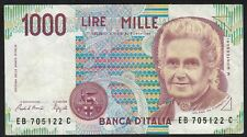 1990 1000 Lire Italy Old Vintage Paper Money Banknote Currency Bill Note VF