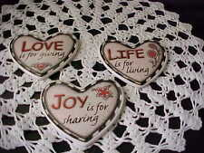 Wall Art Life is for Living Love is for giving Joy is for Sharing Three Hearts