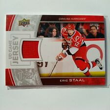 2013-14 UD Game Jersey Eric Staal Carolina Hurricaines GU Jersey RED