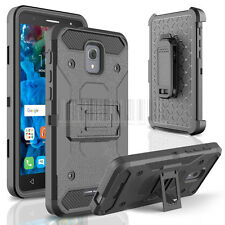 Rugged Armor Holster Case Cover Fr Alcatel Fierce 4/Pop 4 Plus/Optus X Smart