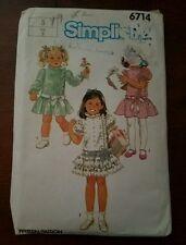 Vintage 1980s Victorian Simplicity 6714 Drop Waisted Dress Pattern sz 5 Unct