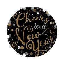 Grande Paquete de 18 Año Nuevo Platos Papel Año Catering Vajilla Fiesta 22cm