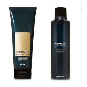 Bath and Body Works MIDNIGHT Men's Collection Ultra Shea Body Cream + Shave Gel
