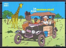"Rare imperforated sheetlet "" Tintin in congo "" only 1100 were printed  MNH"