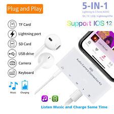 For Apple Lightning 8 PIN to FEMALE USB Camera Card Reader OTG Headphone Kit NEW