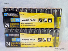 2 -Seald 24 pack AAA Heavy Duty Contractor Quality Magnum Thunderbolt Batteries