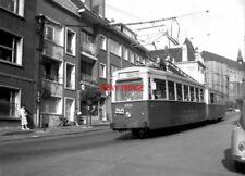 PHOTO  BELGIUM TRAMS 1959 MONS CENTRE SNCV BRAINE-LE-COMPTE TRAM  NO 10388 19477