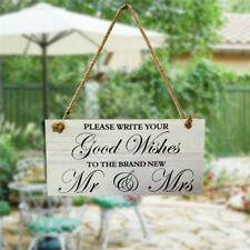 Wedding Venue Decoration Supplies Wooden Sign Board Beauty Good Wishes Mr Mrs