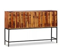Vintage Industrial Console Table Metal Rustic Furniture Side Storage Cabinet