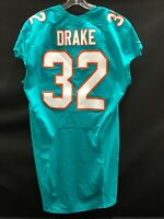 "#32 KENYAN DRAKE MIAMI DOLPHINS NIKE TEAM ISSUED AQUA ""SAMPLE"" JERSEY NEW STYLE"