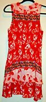 Women's Parker SZ 2 100% Silk FLORAL Layered  Sleeveless Tie Dress EUC