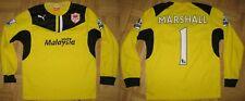 CARDIFF CITY FC / MARSHALL 1 / Puma  JUNIOR shirt  size 152 , 12 , 30/32