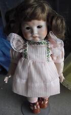 """Vintage M Brouse Art Porcelain Paris 252 Composition Girl Doll  9 1/2"""" Tall"""