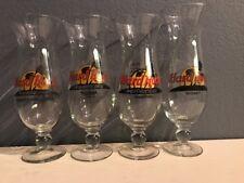 Set Of 4 HARD ROCK CAFE TIJUANA, PV, SINGAPORE, SYDNEY HURRICANE GLASSES RECIPE