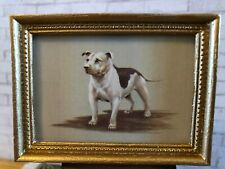 "Vintage Dollhouse Framed ""Top Dogs"" Print - The Staffordshire Bull Terrier 1:12"