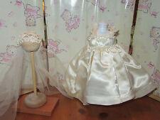 "Vintage  Madame Alexander-kins  8"" Doll -1955 SATIN DRESS -MATCHING VEIL-TAGGED"