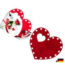 FILZUNTERSETZER HERZ Platzset Tischset Topfuntersetzer Tischdeko Valentinstag