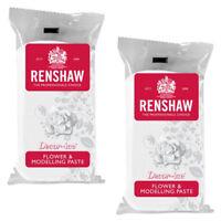 2 x Renshaw White Flower & Modelling Paste Food Cake Icing Sugarcraft Decorating