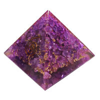 Extra Large 65-70mm Amethyst Stone Orgone Pyramid Energy Generator Healing