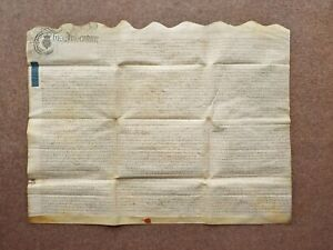 1749 City of Bath Somerset Stall Street Georgian Vellum Deed Document Indenture