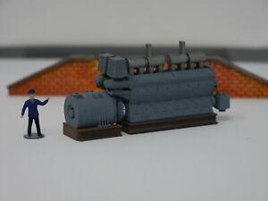 Spur H0   Ladegut  Dieselmotor EMD 567B (F-Serie, NOHAB), Dioramabau