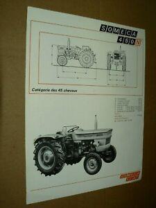 Prospectus Tracteur FIAT SOMECA 450 N Brochure Tractor Traktor Trattore Prospekt