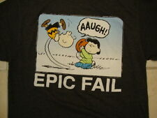 Peanuts Charlie Brown Lucy Football Punt Kick Epic Fail Soft T Shirt M
