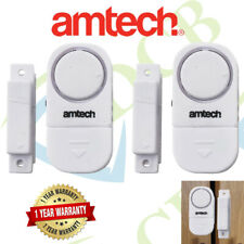 2 Piece Door And Window Entry Alarm Set - 2pc Security Device Alert Burglar Home