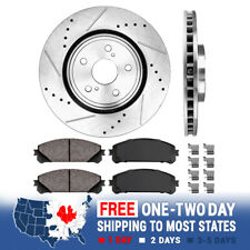 Front Drill Slot Brake Rotors & Ceramic Pads For RX350 RX450h Highlander Sienna