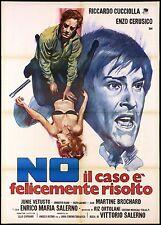 NO IL CASO E' FELICEMENTE RISOLTO MANIFESTO FILM POLIZIESCO 1973 MOVIE POSTER 2F