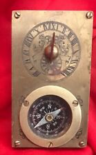 Brass Compass Sundial Antique Vintage  Navigational Nautical Compass