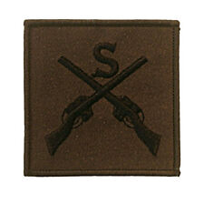 NEW ARMY SUBDUED OFFICIAL SNIPER CROSSED RIFLES BADGE