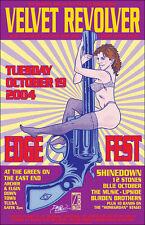Velvet Revolver Original Signed 04 Tulsa Concert Poster Stone Temple Pilots Gnr