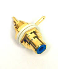 2pc RCA Jack Audio Female Socket Gold plated Color= Blue φ15x28.5mm #2013-BL