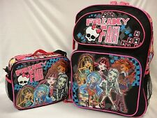 "Monster High Large 16"" Backpack & Insulated Lunch Bag - Freaky Fab"