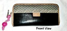 Fossil Key-Per Black And Multicolored Checkbook Wallet