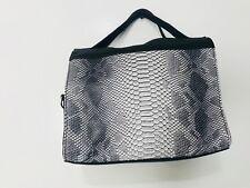 Charles Jourdan  WOMENS  Snake-Embossed TOTE Bag - BLACK /WHITE - BRAND NEW
