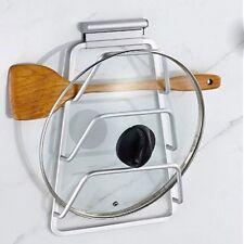 Pot Lid Rack Kitchen Space Saver Pan Cover Holder Cabinet Organizer Storage Case