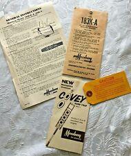 Vtg 1957 Mossberg 183K-A Original Hang Tag Envelope Instructions Part List Covey