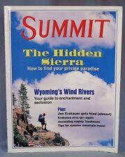Summit Mountain Climbing Magazine Summer 1994, Hidden Sierra, Wind River Range