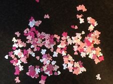 Mixed Bag Of Pink & White Paper Confetti Shapes Butterflies Hearts Bows