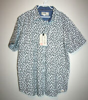NEW Boys FREE PLANET Button Down Front Black and  White Shark Print Shirt 14/16
