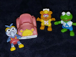 McDonalds Muppet Babies lot of 4 - 1986 Happy Meal toys Muppets