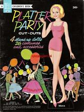 Vintage Uncut 1961 Platter Party Paper Dolls~#1 Reproduction~Fabulous Rare Set