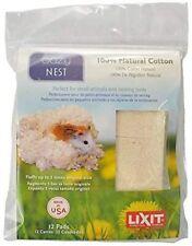 Lixit 12 Paquet Naturel Cage Nidification 100% Coton Lit Matière Fabriqué Au USA