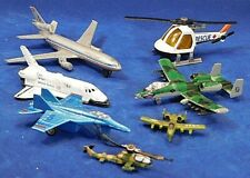 7 Vintage Die Cast Airplanes & Helicopters and Space shuttle, oh my!!