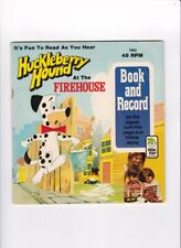 Vtg. Huckleberry Hound At The Firehouse Peter Pan Book And Record 1974 #1962