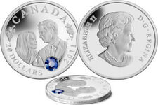 (10) 2011 RCM PRINCE WILLIAM AND MISS KATE MIDDLETON $20 FINE SILVER COINS
