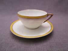 belle tasse et sous-tasse a thé ancienne en porcelaine de limoges